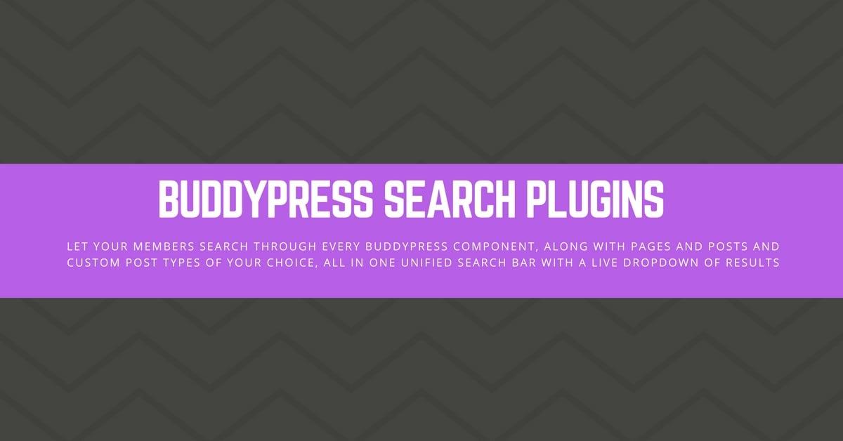 BuddyPress Search Plugins