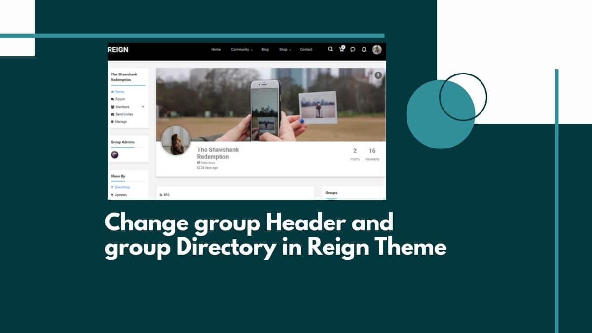 Change group Header and group Directory