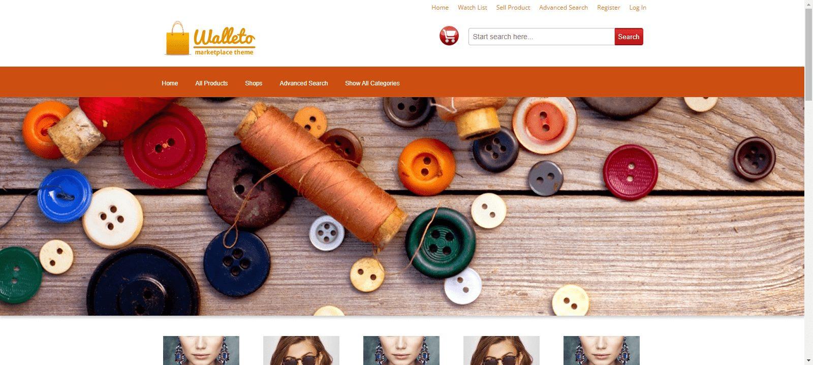 multivendor website theme