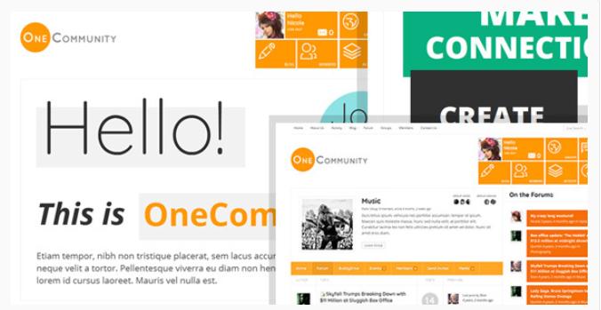 Community theme for WordPress