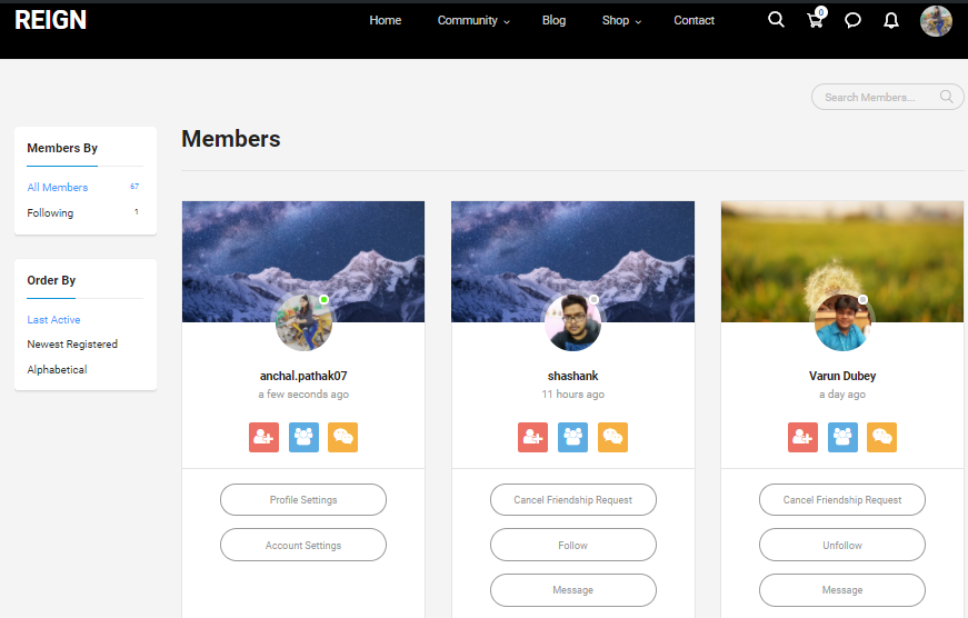 change member directory layout