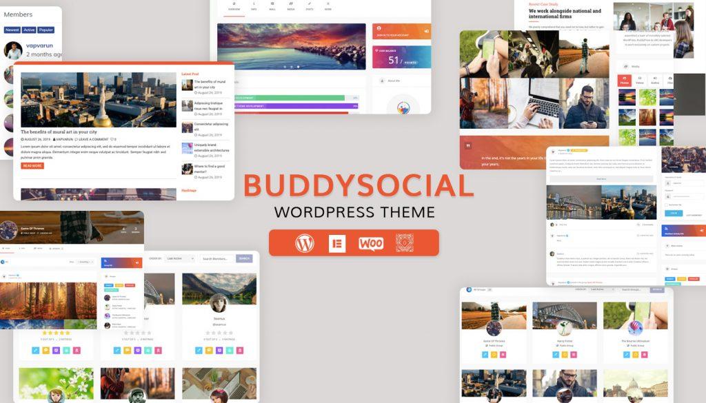 WordPress BuddyPress Theme