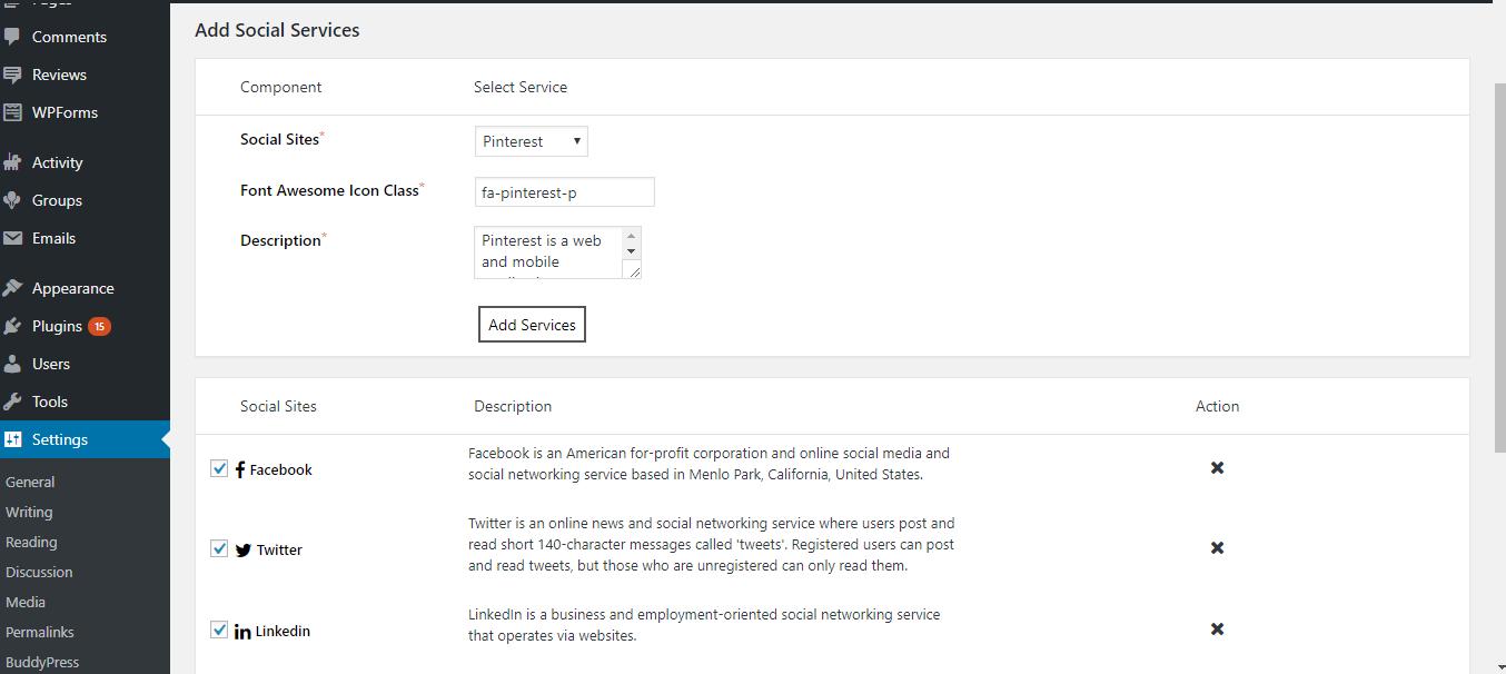Activity social share plugin buddypress, BuddyPress multisite