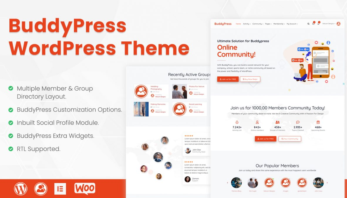wordpress buddypress theme