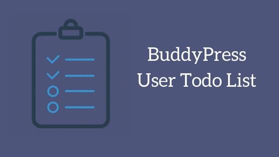 BuddyPress User Todo List Plugin