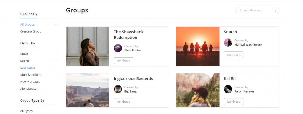 Creating BuddyPress Groups