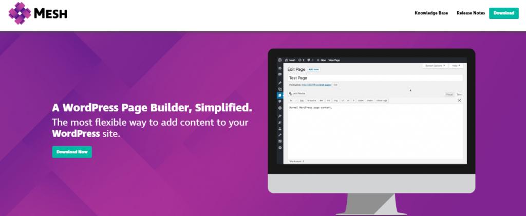 mesh, WordPress Page builders