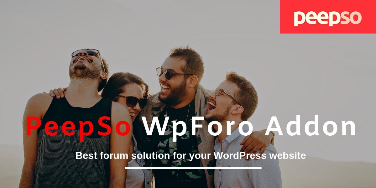 PeepSo wpForo Addon plugin, Peepso addons, forum plugin