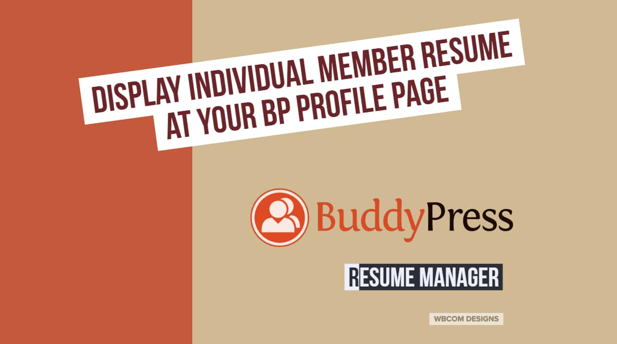 display individual member resume at your BP profile page