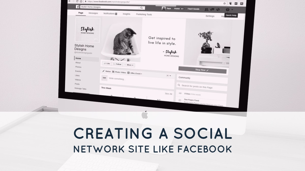 Creating a Social Network Site like Facebook 1