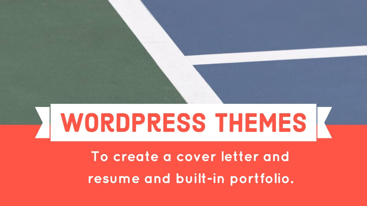 create a cover letter and resume and built in portfolio.