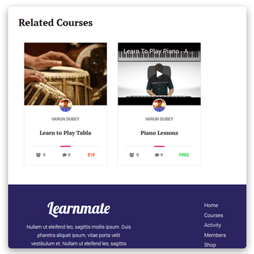 Learnmate Learndash Related Courses, Learndash Theme