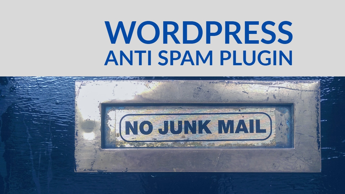 wordpress anti Spam plugin
