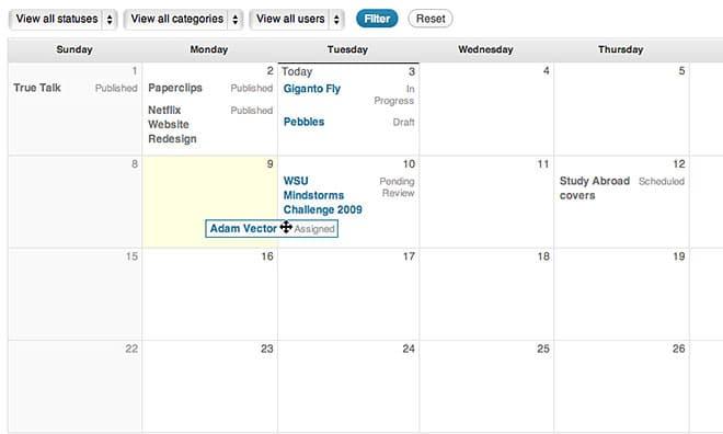 pre-planned scheduled wordpress blog