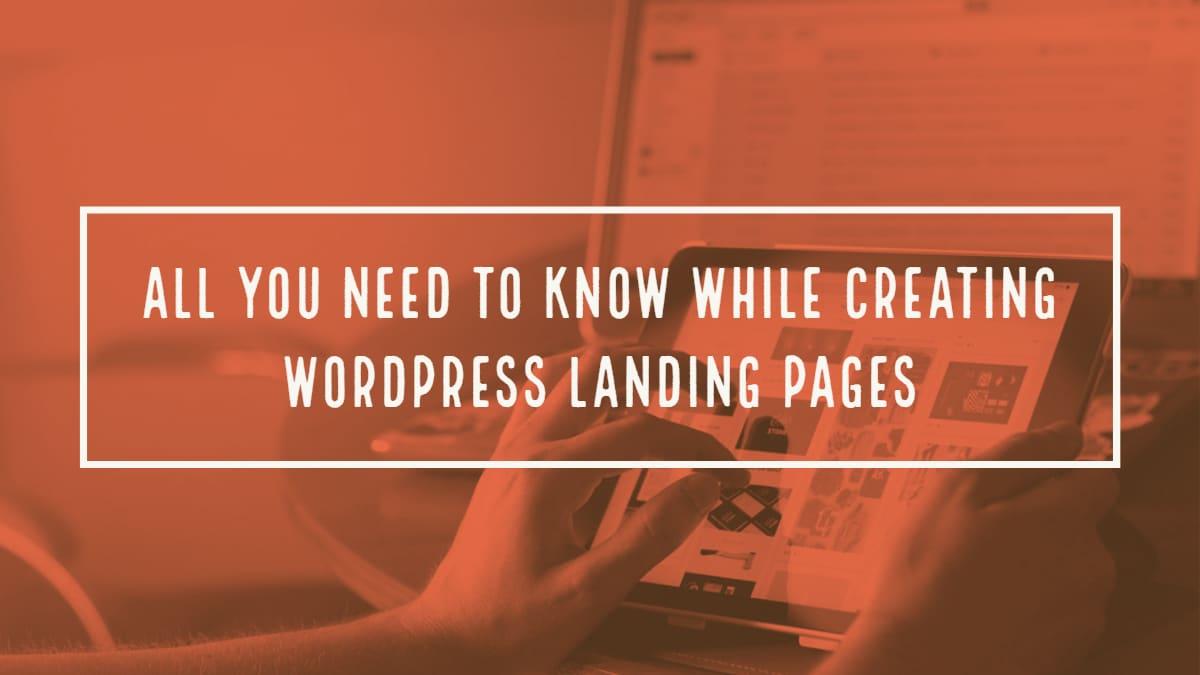 Creating WordPress Landing Pages That Convert