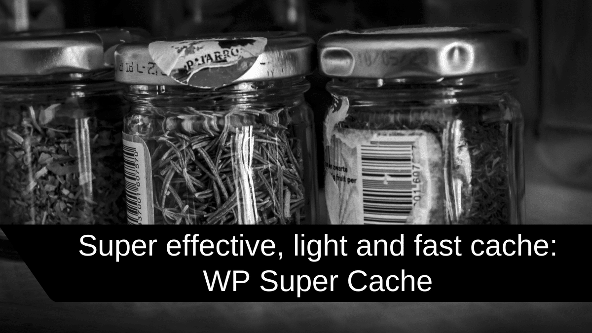 Super effective light and fast cache WP Super Cache