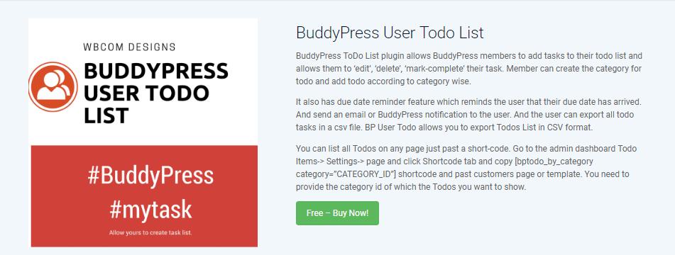 BuddyPress To Do List Feature