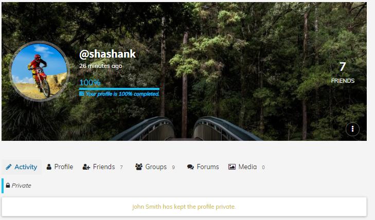 BuddyPress private profile,Private Community