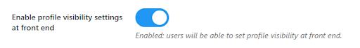 Enable buddypress profile visibility setting,Private Community