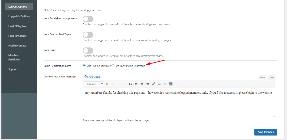 logged-out-users-setting