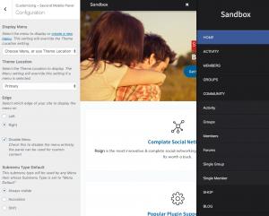 second mobile menu