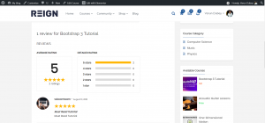 Learndash Course Reviews by Students Frontend View