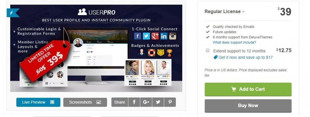 create social network user profile