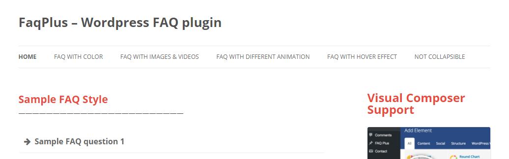 WordPress Faq plugins