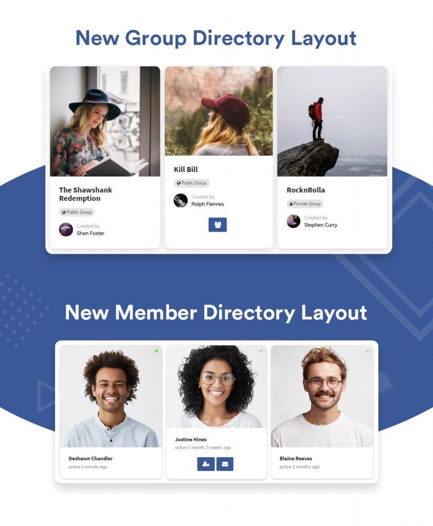 Group Layout - Wbcom Designs