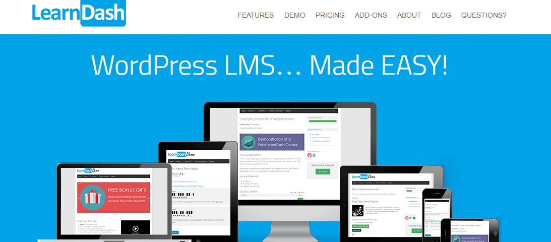 e-learning website using LearnDash