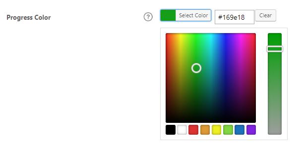 Progress color settings, Best WordPress LMS Plugin LearnDash