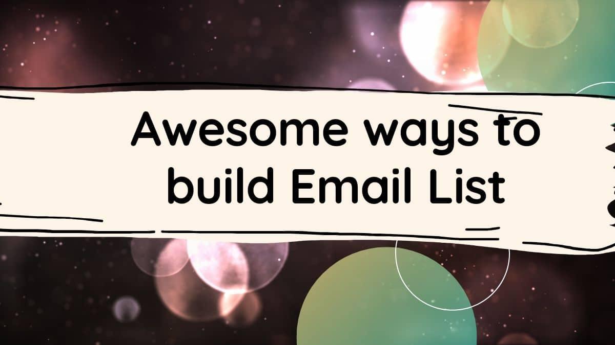 wordpress email list