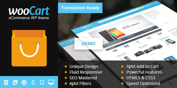 WooCart Premium eCommerce WordPress Theme