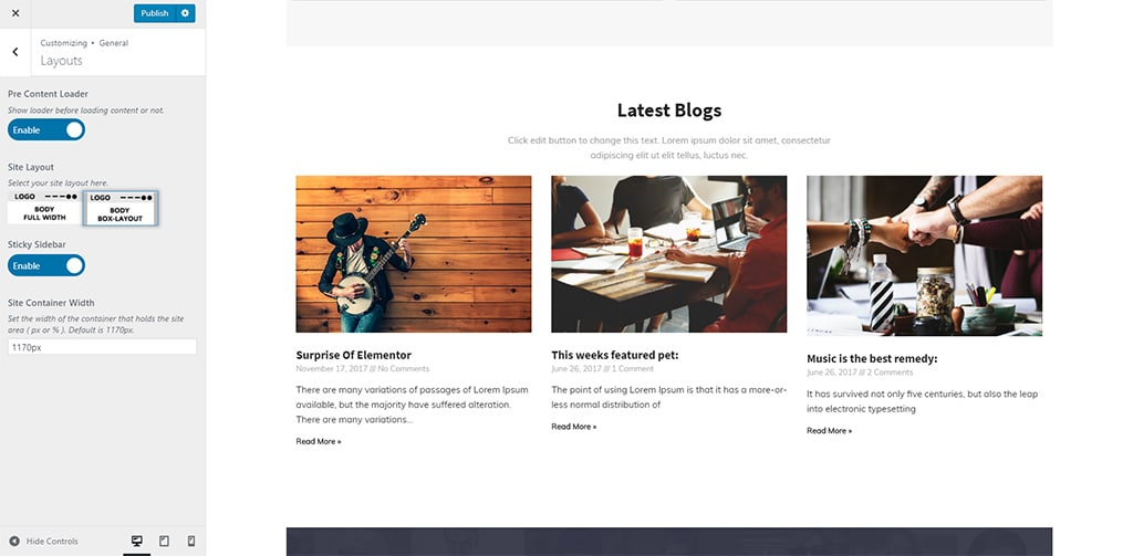 layout - Wbcom Designs