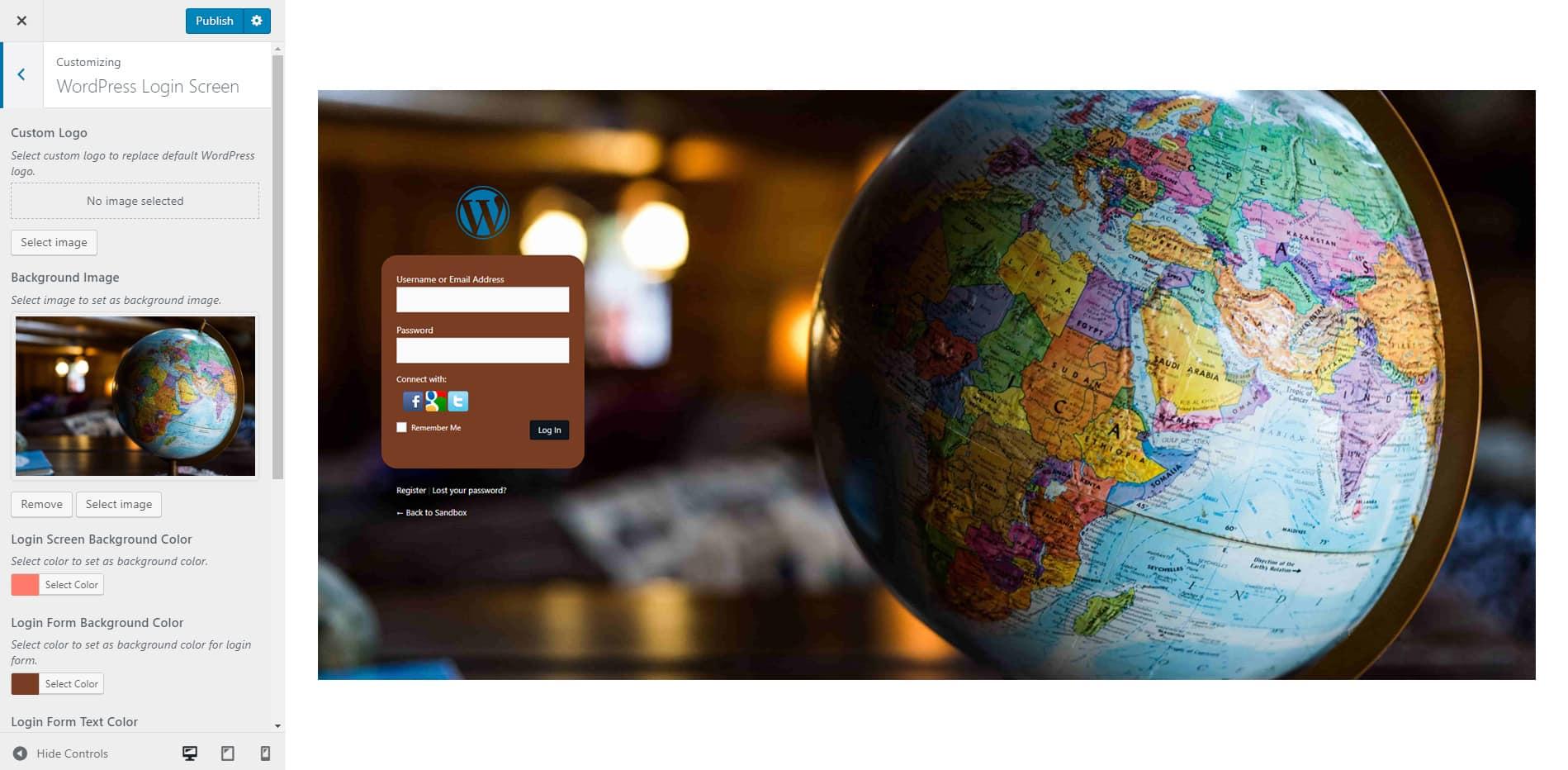login screen - Wbcom Designs