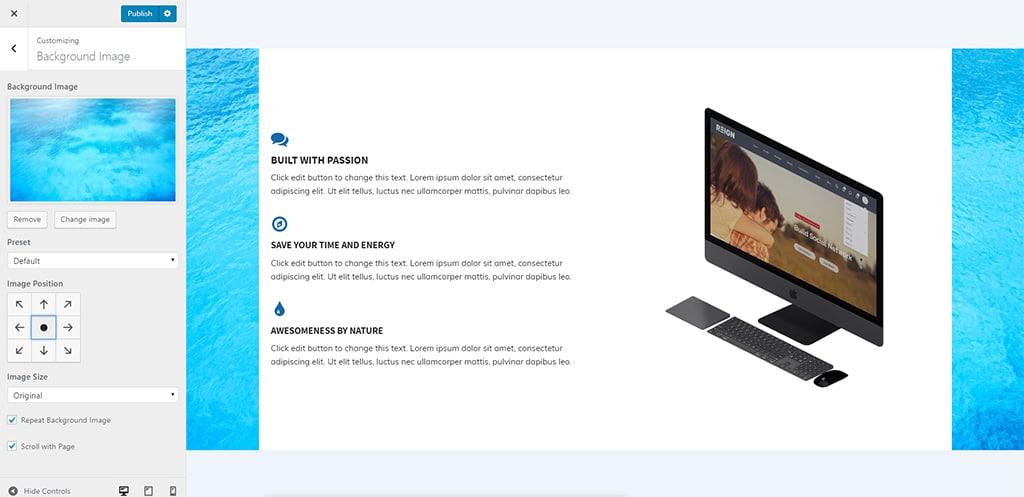 set background image - Wbcom Designs