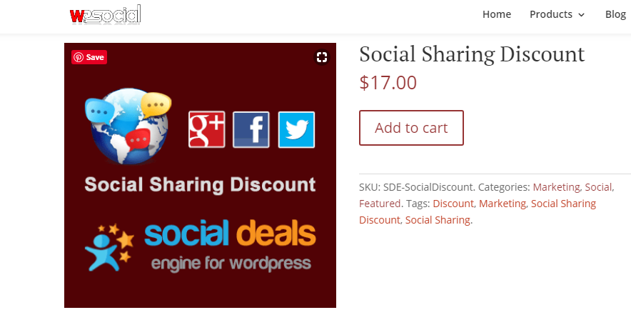 social share discount plugins
