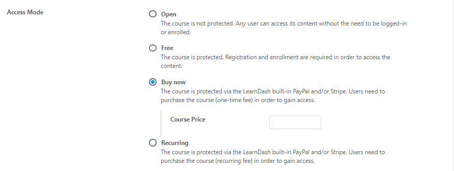 Buy Now option