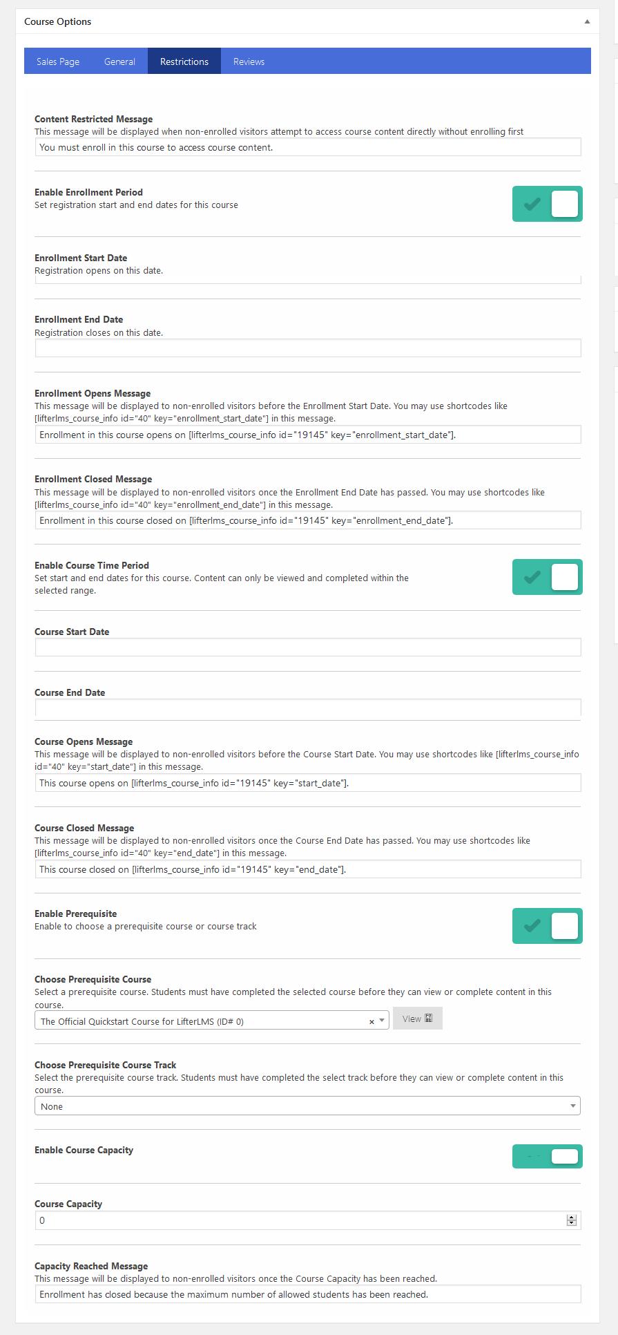 Edit Course ‹ Sandbox — WordPress1 - Wbcom Designs