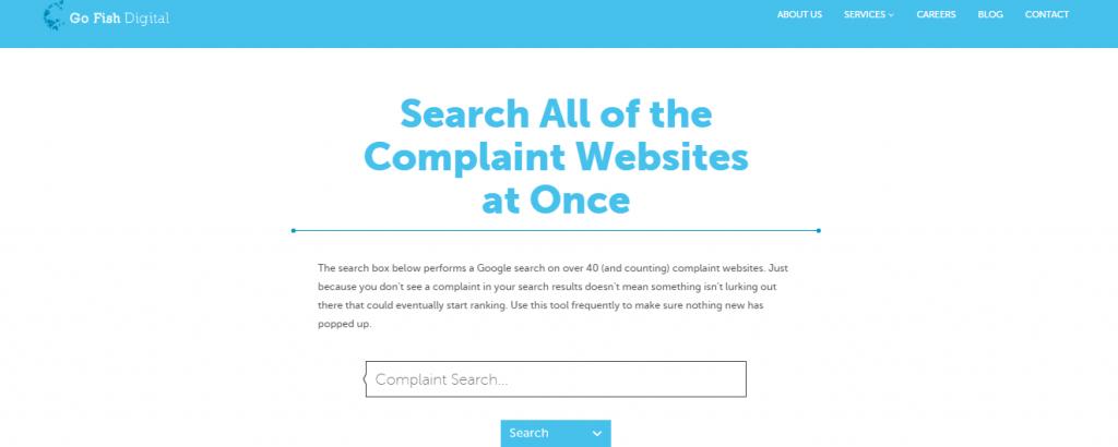 Go Fish Digital Complaint Search