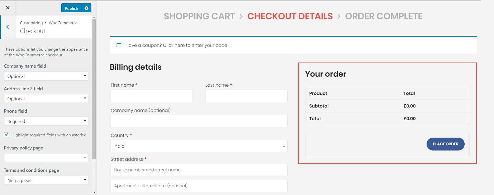 checkout page - Wbcom Designs