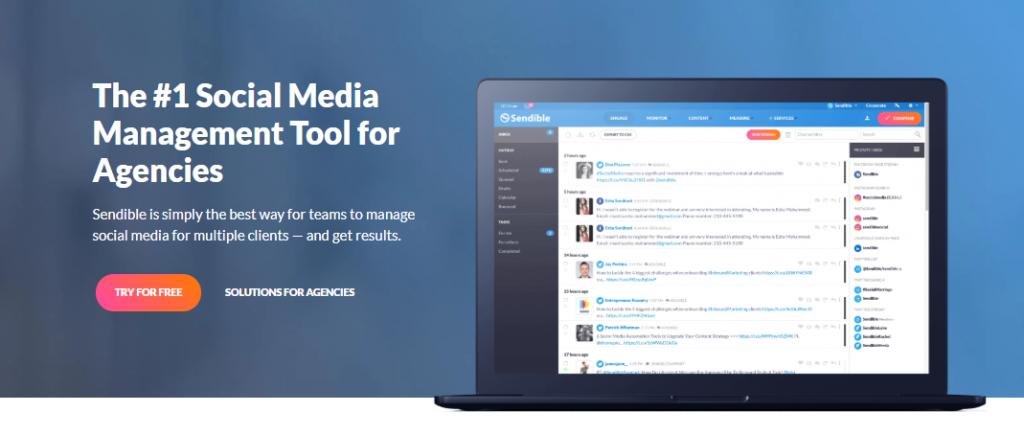 Sendible social media monitoring tools