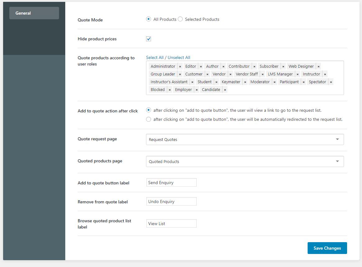 FireShot Capture 151 WooCommerce Price Quote ‹ Sandbox — WordPress amiable - Wbcom Designs