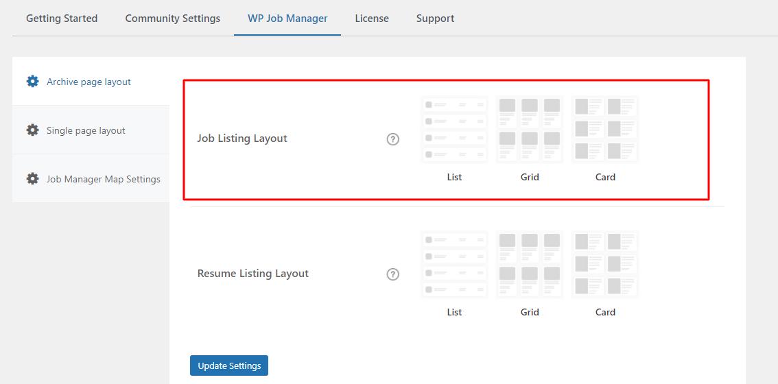 Job Listing Layout - Wbcom Designs