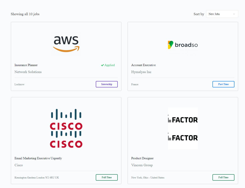 Jobs – Jobmate 1 - Wbcom Designs