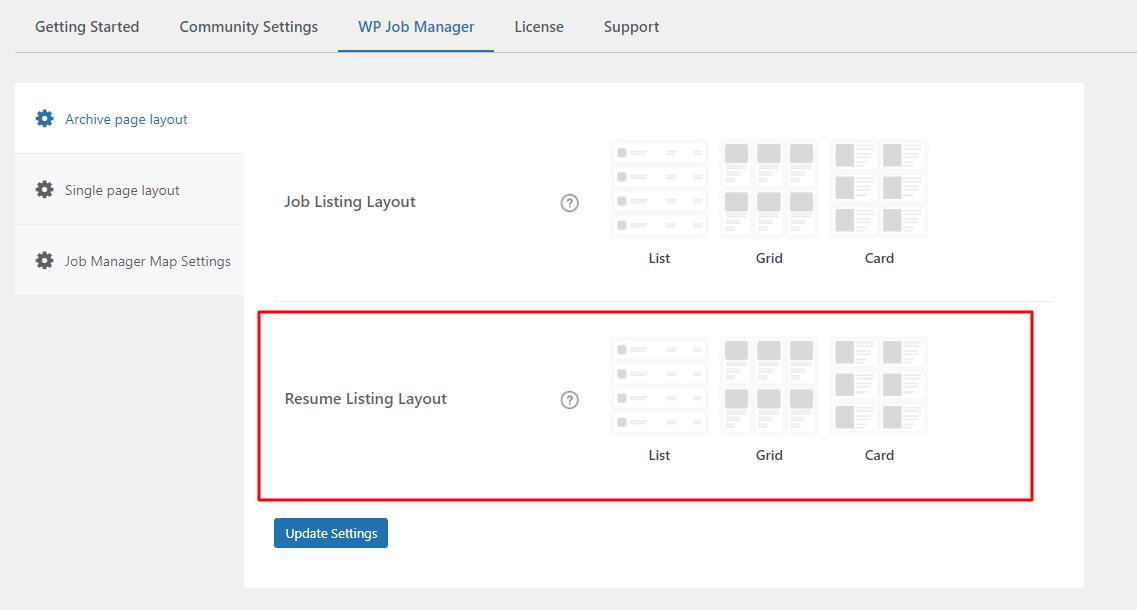 Resume listing layout - Wbcom Designs