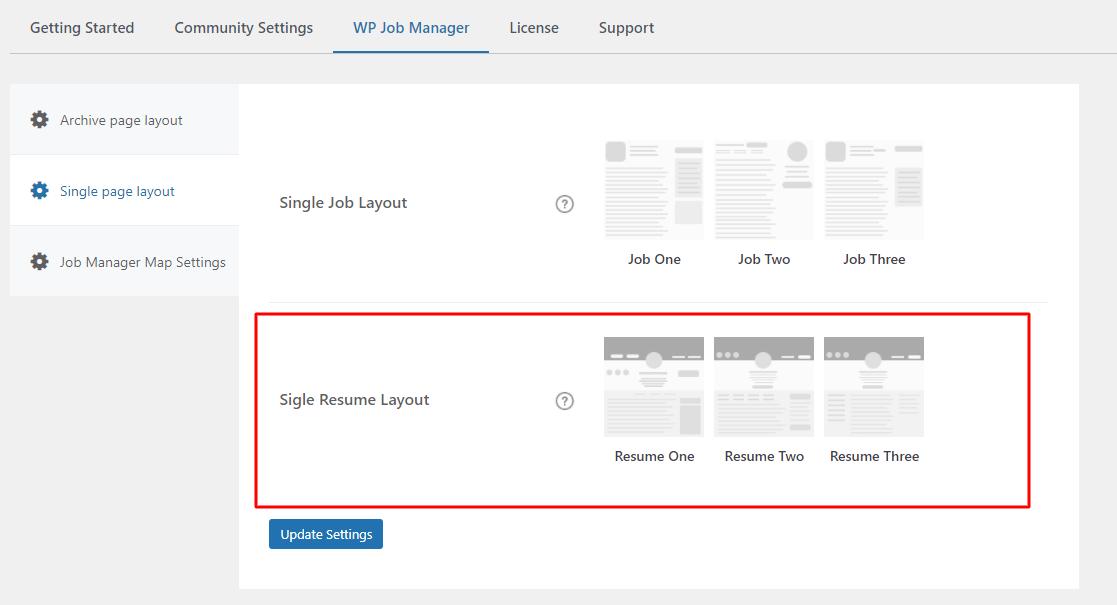 Single Resume Layout - Wbcom Designs