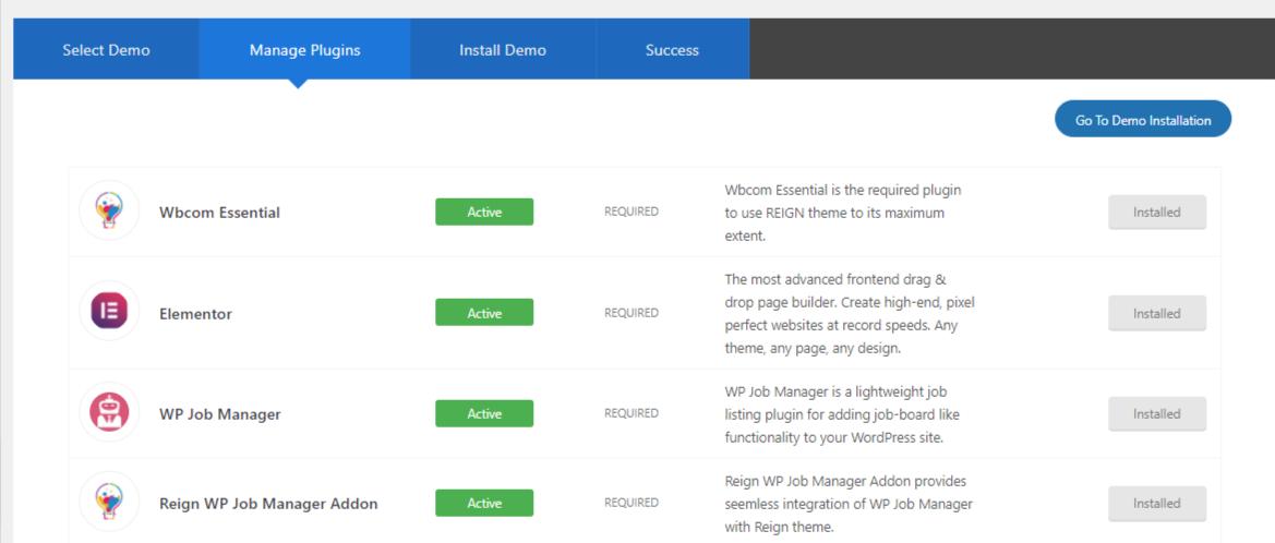 Theme Installer ‹ Reign BuddyBoss Platform — WordPress 3