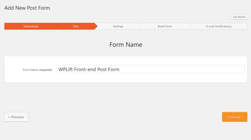 front end post submission WordPress