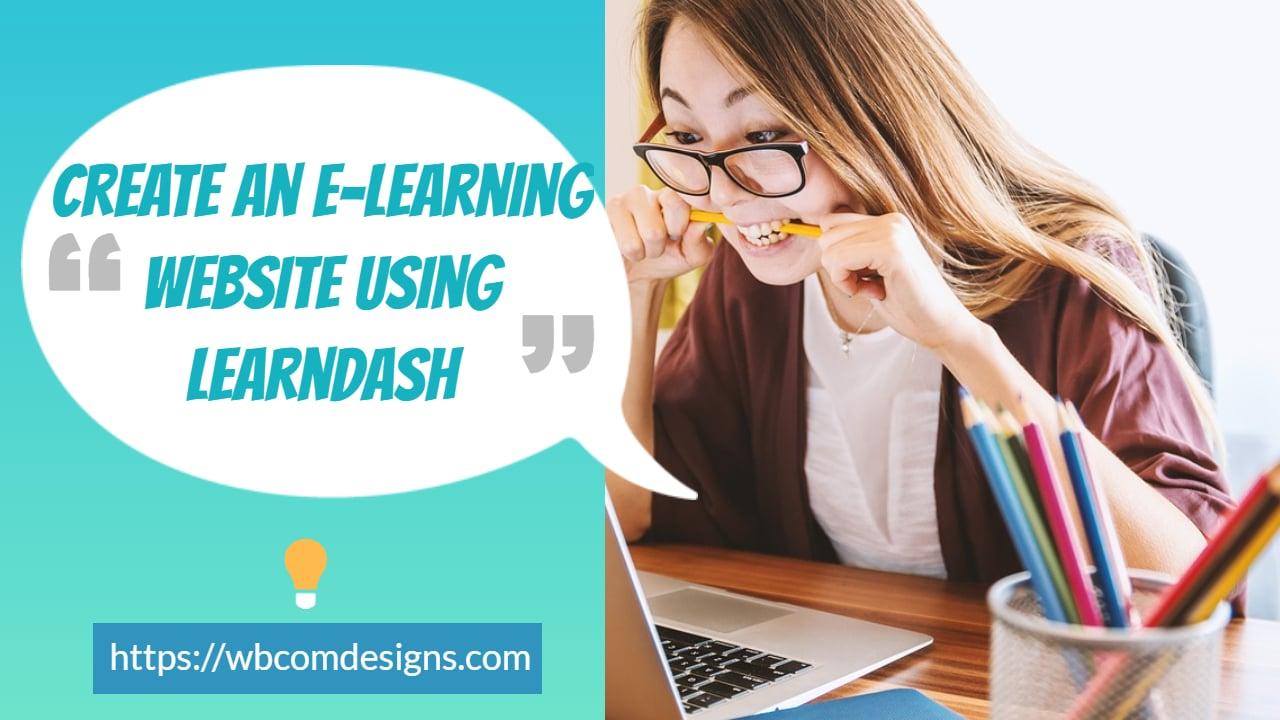 Create An E-Learning Website
